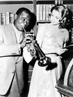 Louis Armstrong Grace Kelly Saxophone Retro Rare Giant Print POSTER Affiche