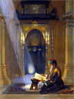 Reproduction sur toile In the Mosque - Carl Friedrich Heinrich Werner